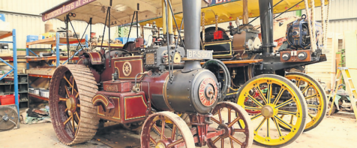 These two engines 1915 Burrell Gold Medal 3689 Sunrise & 1904 Fowler 9971 D2 showmans Candy Floss, sold for £350,000 between them